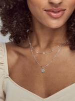Kendra Scott Clove Multi Strand Silver Necklace