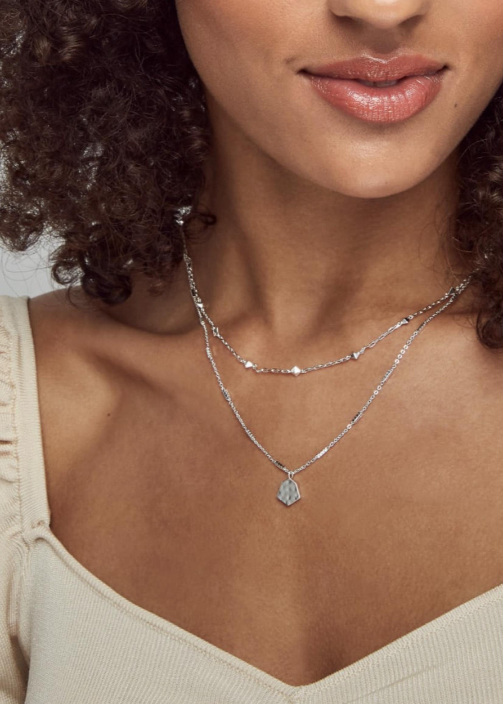 Kendra Scott Kendra Scott Clove Multi Strand Silver Necklace