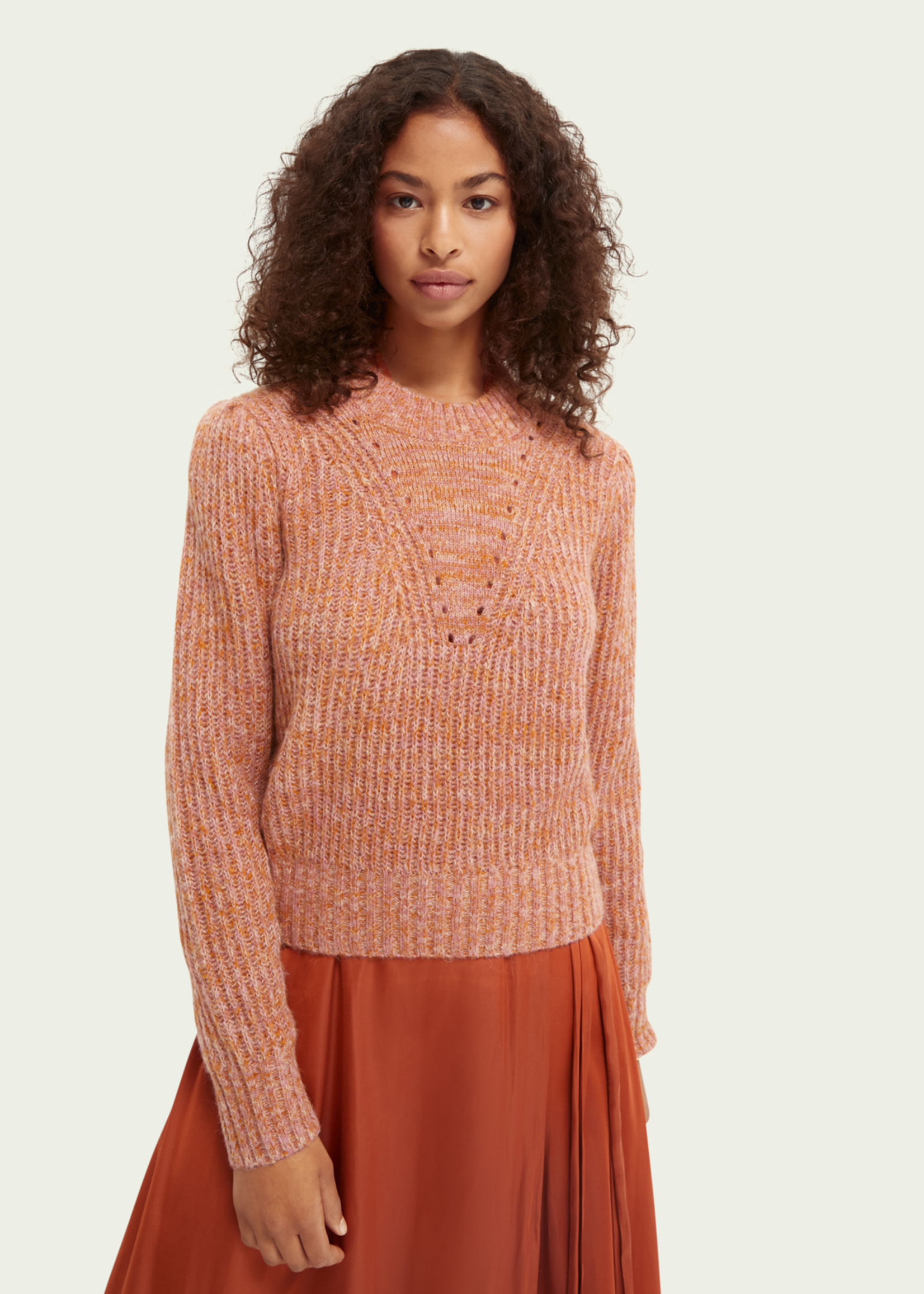 Scotch & Soda Scotch & Soda Loose Fit Pullover With Puff Sleeve