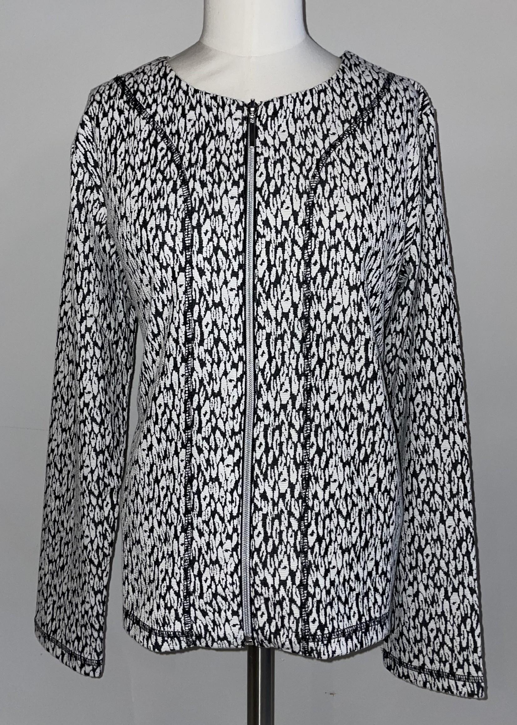 Sunday Black & White Zip Jacket