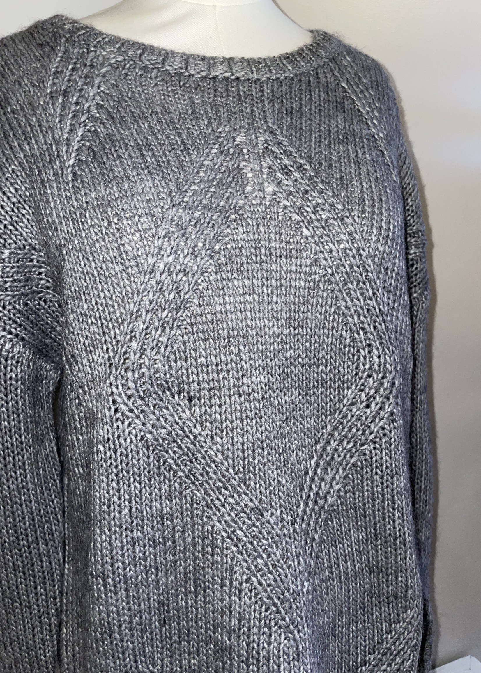 Sunday Gray Cable-Knit Sweater