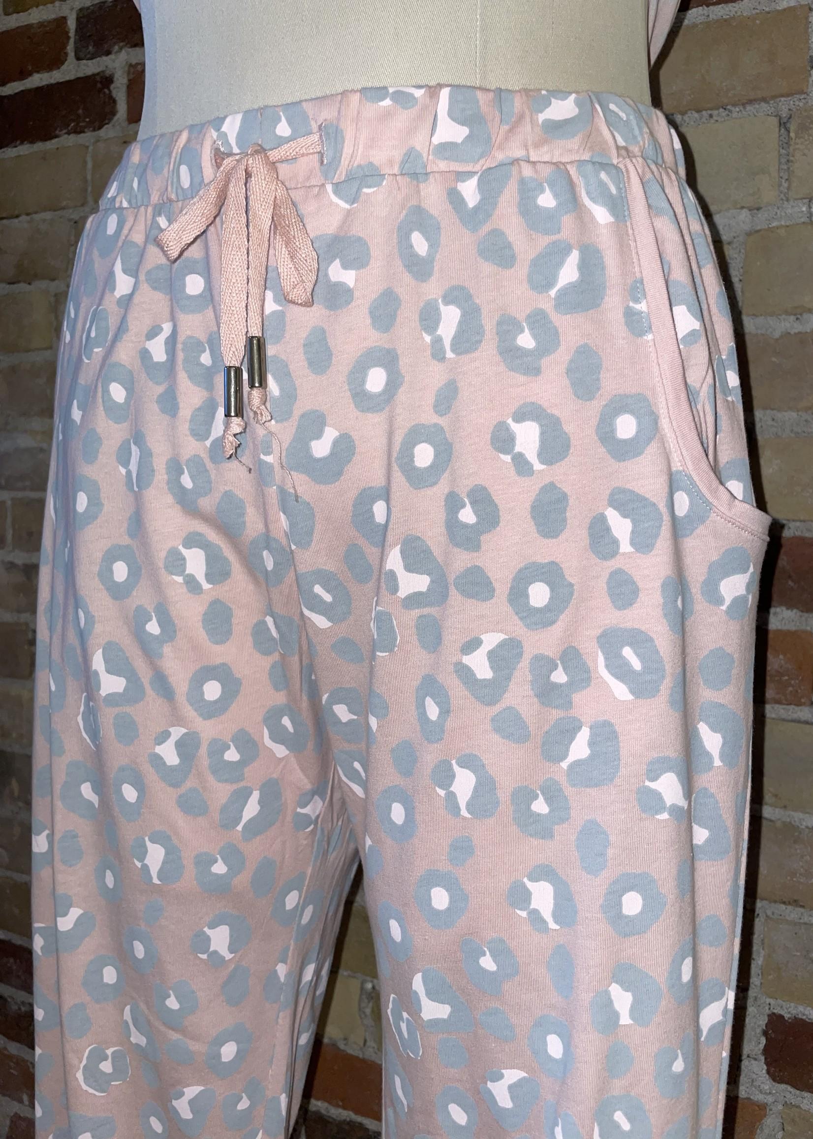 Sunday Pink Leopard Pajama Set