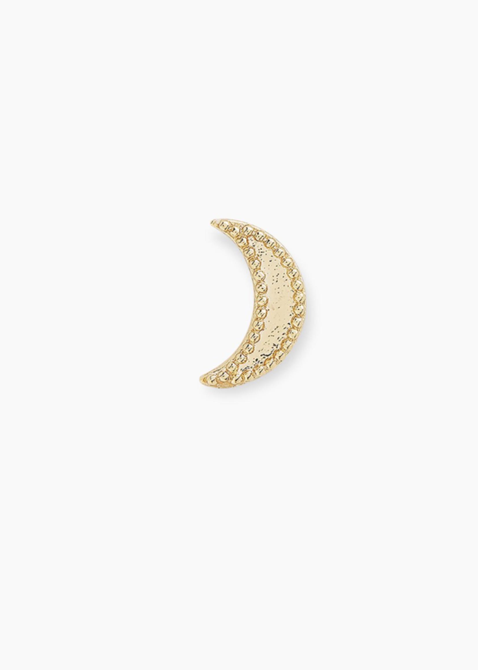 Gorjana Gorjana Moon Charm Stud