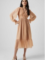 French Connection Alita Pleated Midi Dress