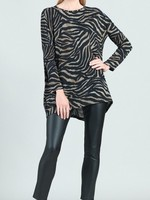 Clara Sunwoo Lightweight Zebra Button Sleeve Tunic