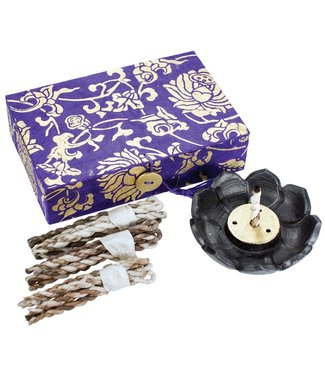 DZI YOGA LOTUS ROPE INCENSE BOX