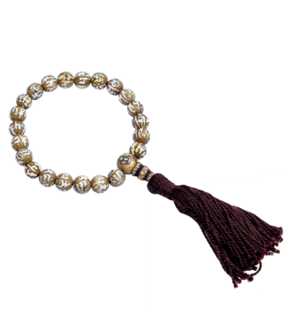 DZI DZI WRIST MALA CARVED CONCH MANTRA