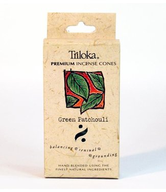 TRILOKA - GREEN PATCHOULI INCENSE CONE