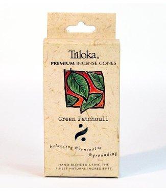 TRILOKA - GREEN PATCHOULI INCENSE CONE