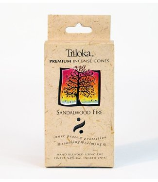 TRILOKA - SANDALWOOD FIRE INCENSE CONE