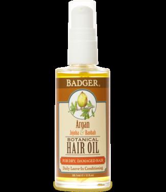 BADGER HAIR OIL ARGAN  - FOR DRY & DAMAGED HAIR 2 OZ