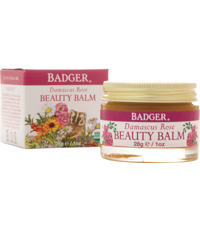 BADGER BEAUTY BALM DAMASCUS ROSE - FOR DELICATE SKIN 1 OZ