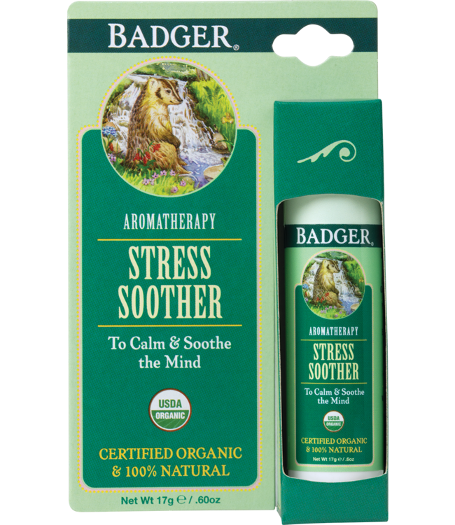 BADGER AROMATHERAPY MIND BALM STICK STRESS .6 OZ