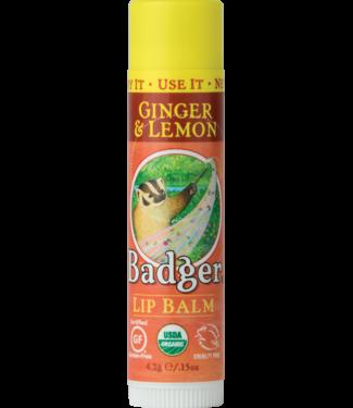 BADGER LIP BALM STICK GINGER & LEMON
