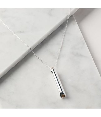 KOMUSO SHIFT PENDANT & CHAIN - STAINLESS STEEL
