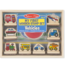 MELISSA & DOUG FIRST STAMP SET-VEHICLES