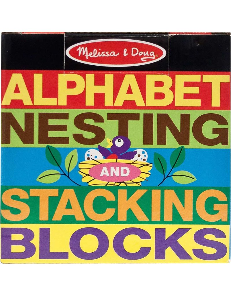 Melissa Doug Alphabet Nesting Bl
