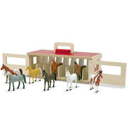 MELISSA & DOUG Take-Along Show-Horse Stable