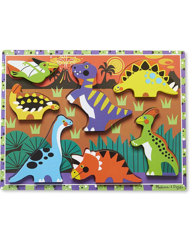 Melissa Doug Chunky Dino Puzzle