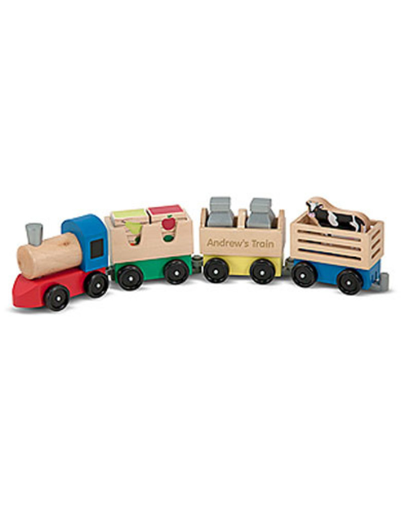 MELISSA & DOUG WOODEN FARM TRAIN