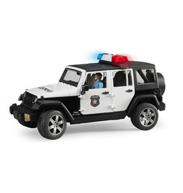 BRUDER TOYS AMERICA INC Jeep Rubicon Police car + light skin Policem