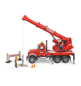 BRUDER TOYS AMERICA INC MACK Granite Crane Truck with Light and Sound
