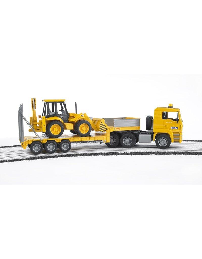 BRUDER TOYS AMERICA INC MAN TGA Loader truck with JCB Backhoe Loader