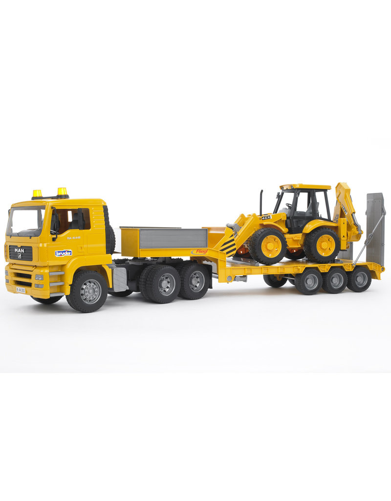 BRUDER TOYS AMERICA INC MAN TGA Loader truck with JCB Backhoe Loader