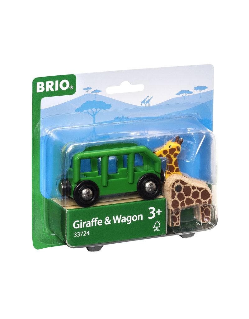 BRIO CORPORATION Giraffe and Wagon