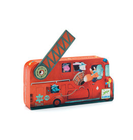 DJECO Silhouette Puzzles The Fire Truck - 16pcs