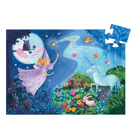 DJECO Silhouette Puzzles The Fairy And The Unicorn - 36pcs