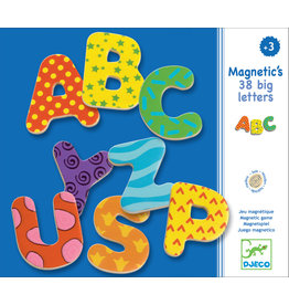 DJECO Wooden Magnetics 38 Big Letters