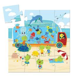 DJECO Silhouette Puzzles The Aquarium - 16pcs