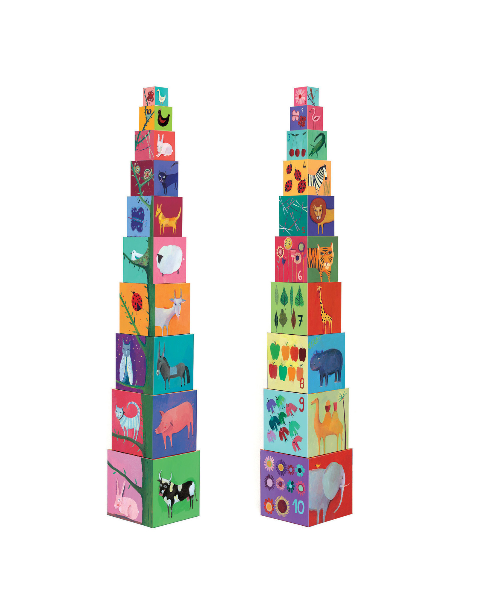 DJECO Blocks & Towers Nature and Animal Blocks