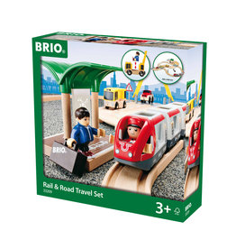 BRIO CORPORATION Rail & Road Travel Set