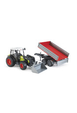 BRUDER TOYS AMERICA INC Claas Nectis 267 F with Frontloader and Trailer