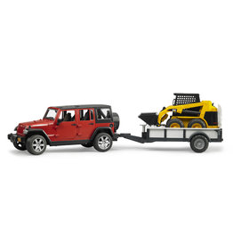 BRUDER TOYS AMERICA INC Jeep Wrangler Unlim. Rubicon w trailer & CAT skid steer