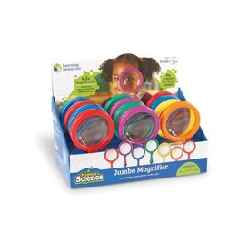 LEARNING RESOURCES Primary Science Jumbo Magnifiers, Set of 12 in Display (without stand)