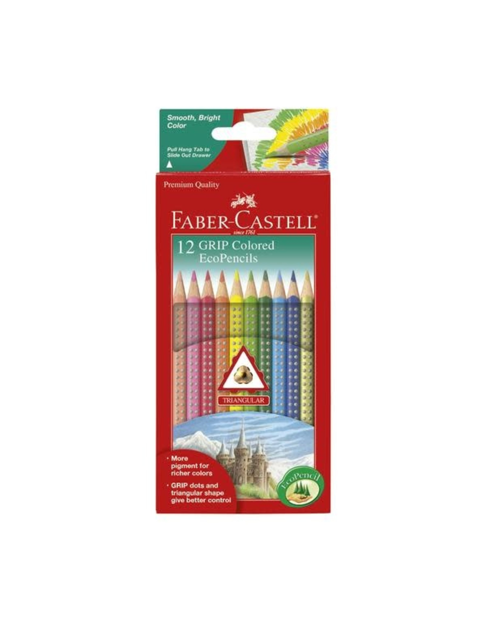 Faber Castell 12ct Grip Colored EcoPencils