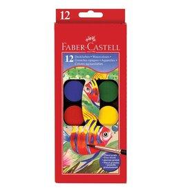 Faber Castell 12ct Watercolor Paint Set (cakes)