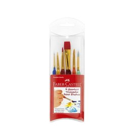 Faber Castell 6 Assorted Triangular Paint Brushes