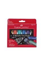 Faber Castell 6ct Metallic Gel Sticks