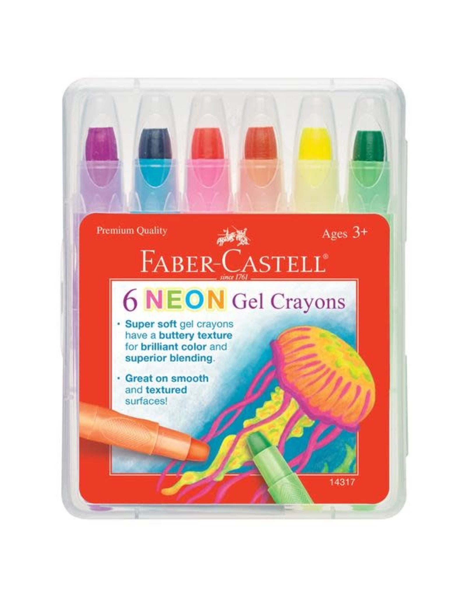 Faber Castell 6ct Neon Gel Crayons