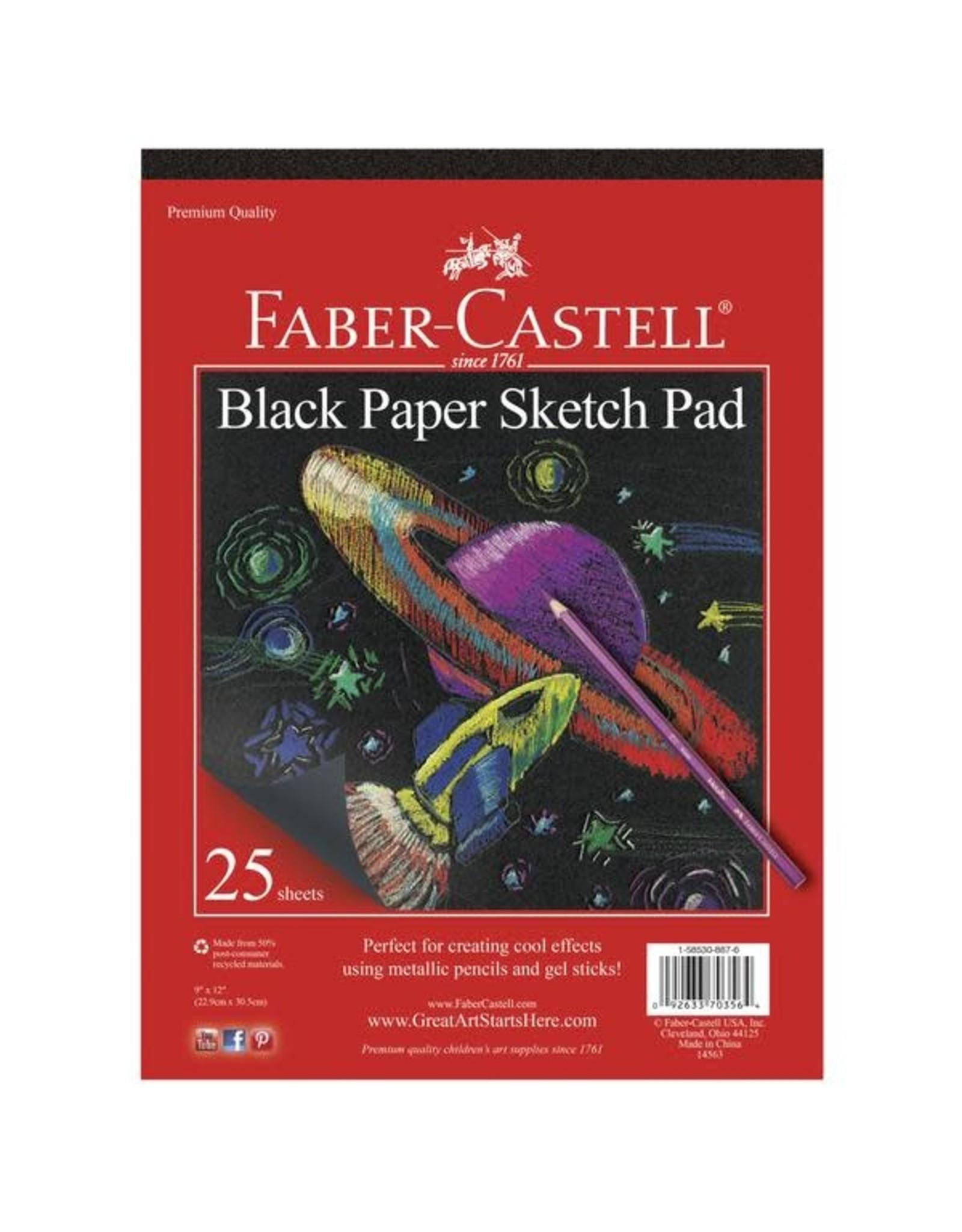 "Faber Castell Black Paper Pad 9"" x 12"