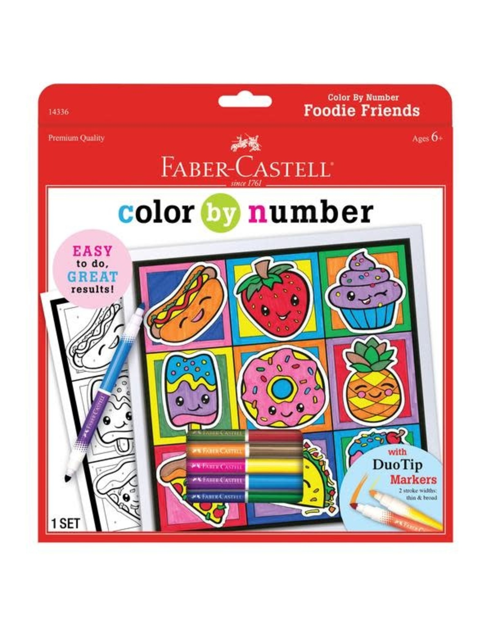 Faber Castell Color By Number Foodie Friends