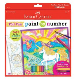 Faber Castell Paint By Number Unicorn Foil Fun