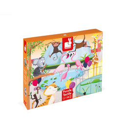 """JANOD TACTILE PUZZLE """"A DAY AT THE ZOO"""" - 20 PCS"""