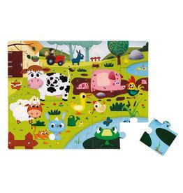 """JANOD TACTILE PUZZLE """"FARM ANIMALS"""" - 20 PCS"""