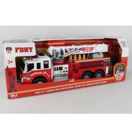 "DARON FDNY Fire Brigade 27"" Fire Truck W/Lights"
