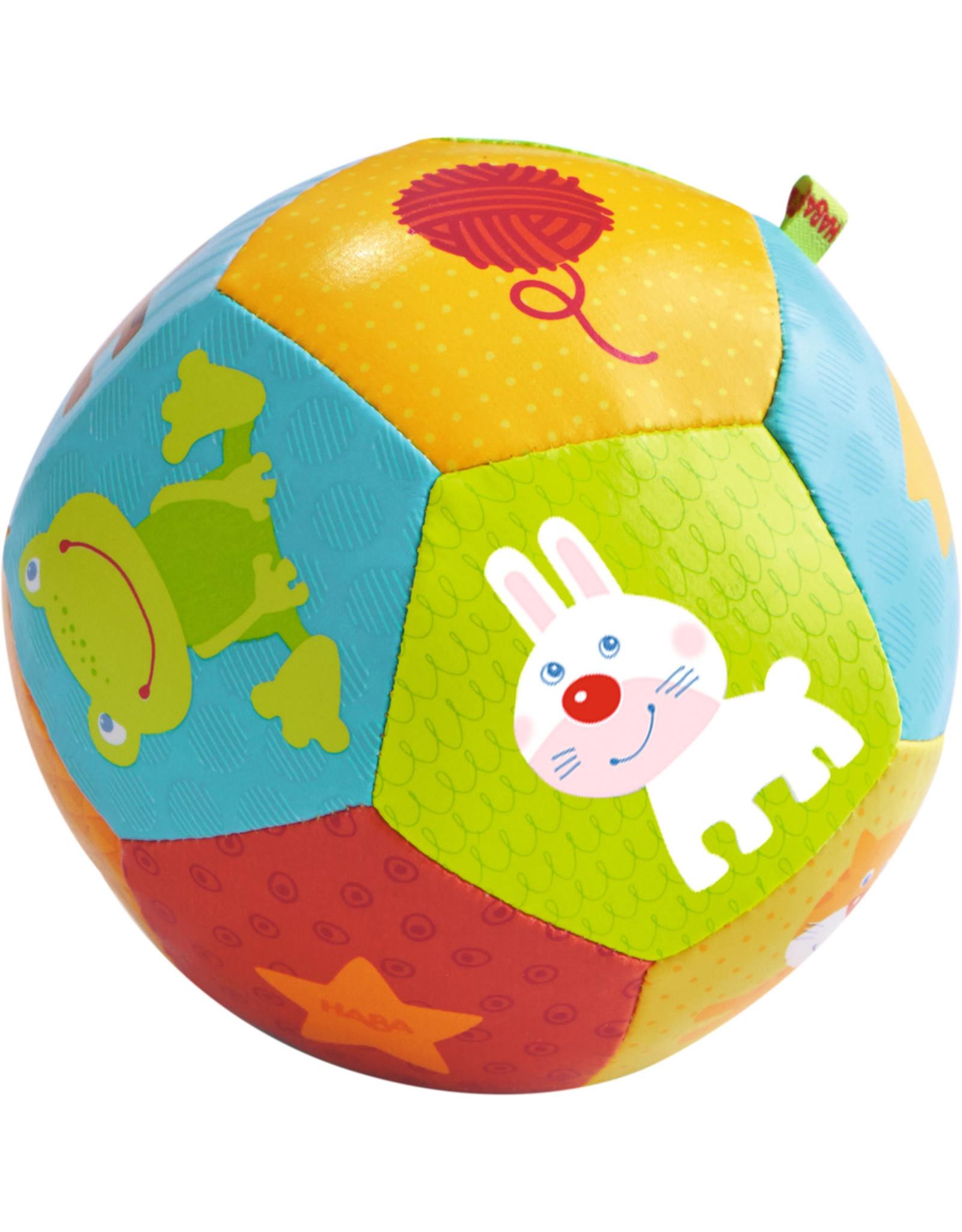 "Haba Baby Ball Animal Friends, 4 1/2"""